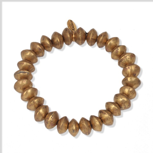 Golden Tuareg Beads Armband