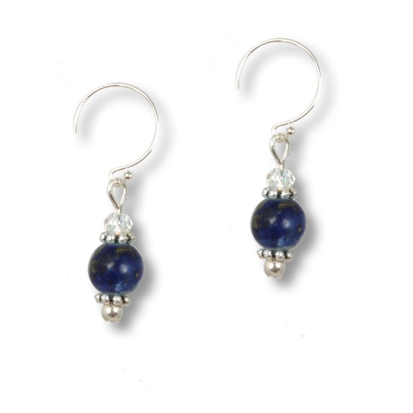 Lapislazuli Pearl - Ocean Daughters Ohrring mit Swarovski
