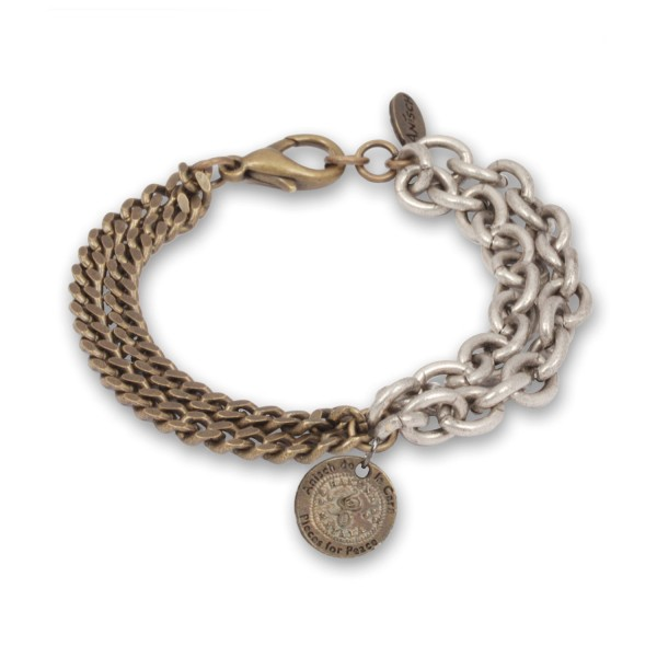 Double Chain - Hakuna Matata Herren-Armband Antique Bronze