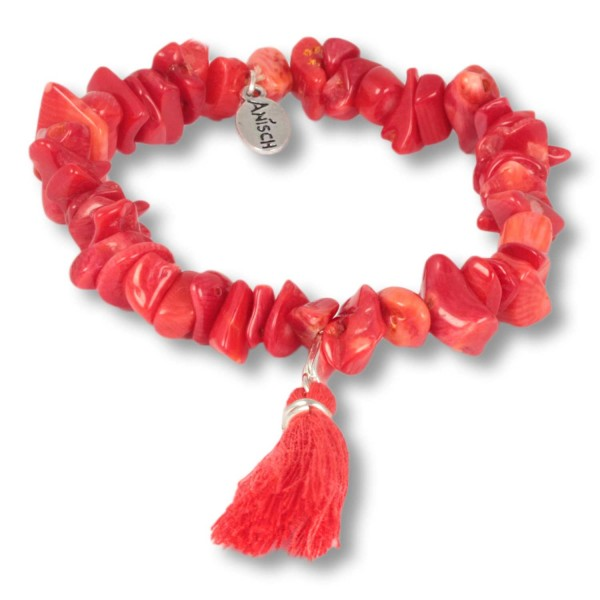 Red Coral - Ocean Daughters Edelsteinarmband aus Koralle