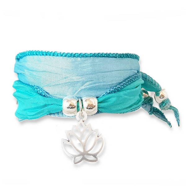 Ice Blue - Faith Lotus Symbolarmband