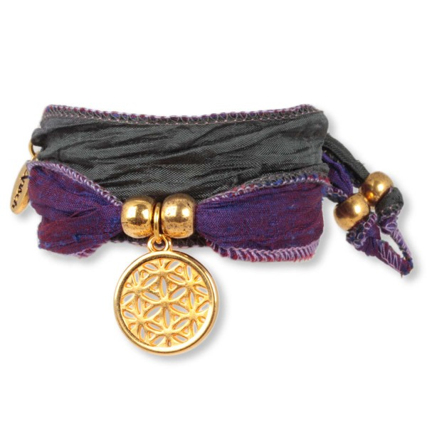 Amethyst Darkgrey- Happy Symbol Wickelarmband