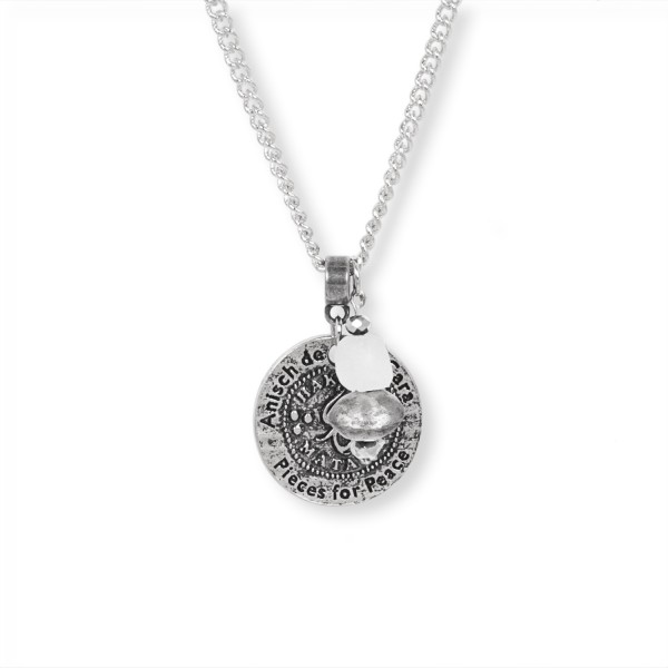 Big Coin - Hakuna Matata Kette Antique Silver, 45 - 50 cm