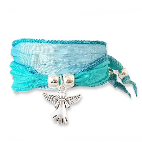 Ice Blue - Happy Symbol Wickelarmband