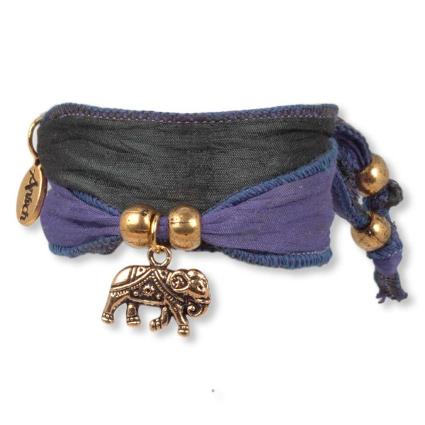 Indigo Darkgrey- Happy Symbol Wickelarmband