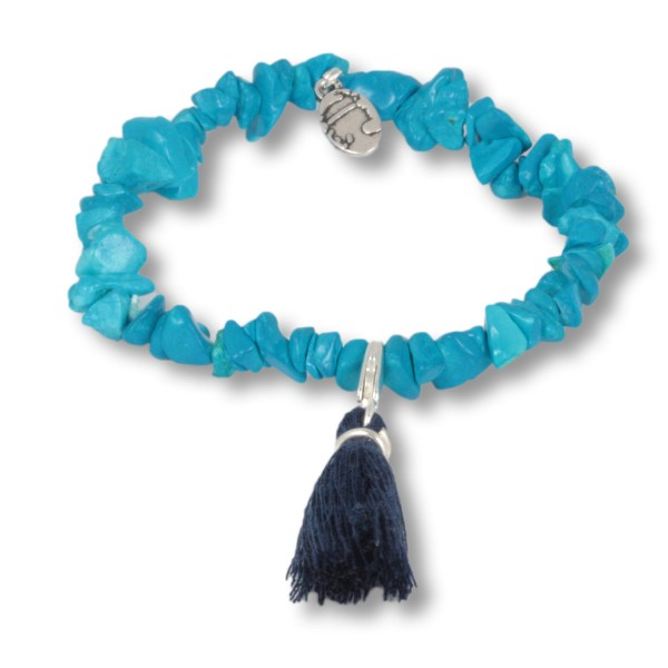 Caribic Blue - Ocean Daughters Edelsteinarmband aus Howlith