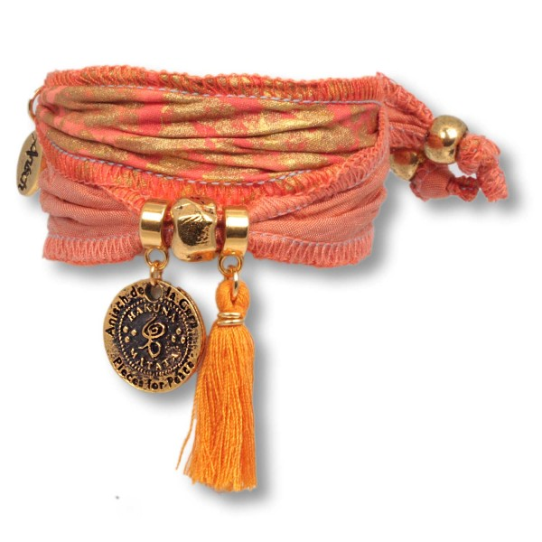 Little Orange Lion - Hakuna Matata Wickelarmband aus Langapalu Stoff