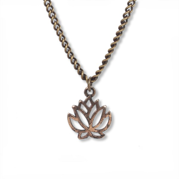 Antique Brass - Lotus Talisman Kette