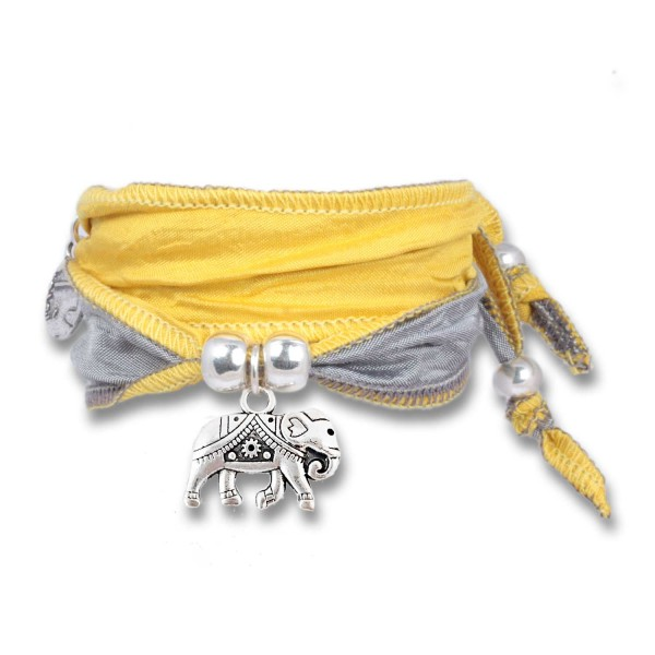Fresh Yellow - Happy Symbol Wickelarmband