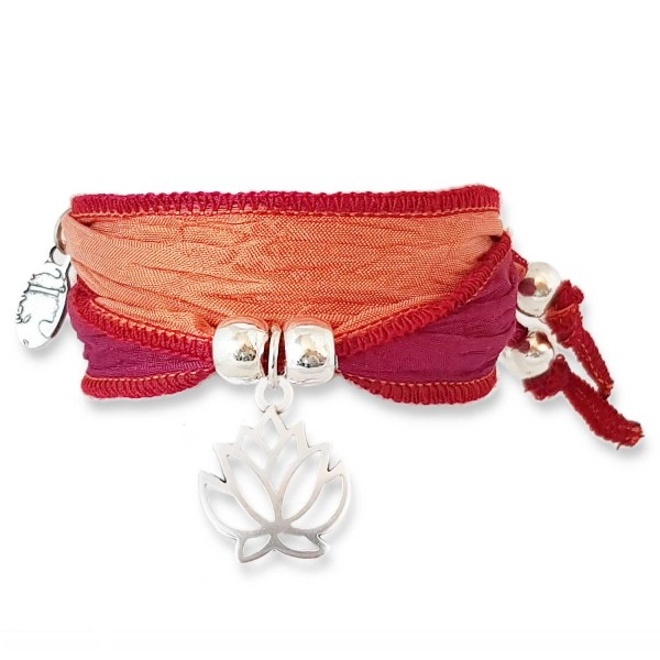 Red Coral - Faith Lotus Symbolarmband
