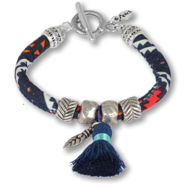 Indigo Feather – Ethnoarmband mit traditionellen Mustern