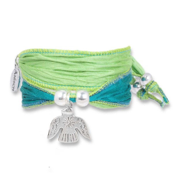 Lime Green - Happy Symbol Wickelarmband