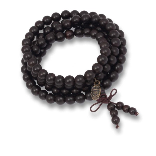 Mala Kette & Armband - Darkbrown Sandelholz, 8 mm